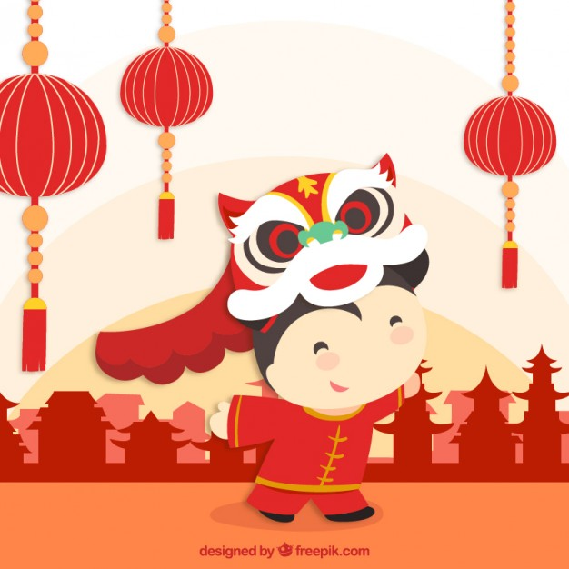 Chinese new year vector clipart png royalty free download Celebrating chinese new year Vector   Free Download png royalty free download