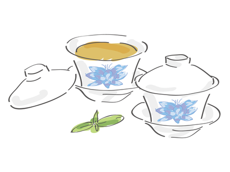 Chinese tea cup clipart png freeuse download Free Silhouette Vector : 2 tea icon simple - 148773 | silhouetteAC png freeuse download