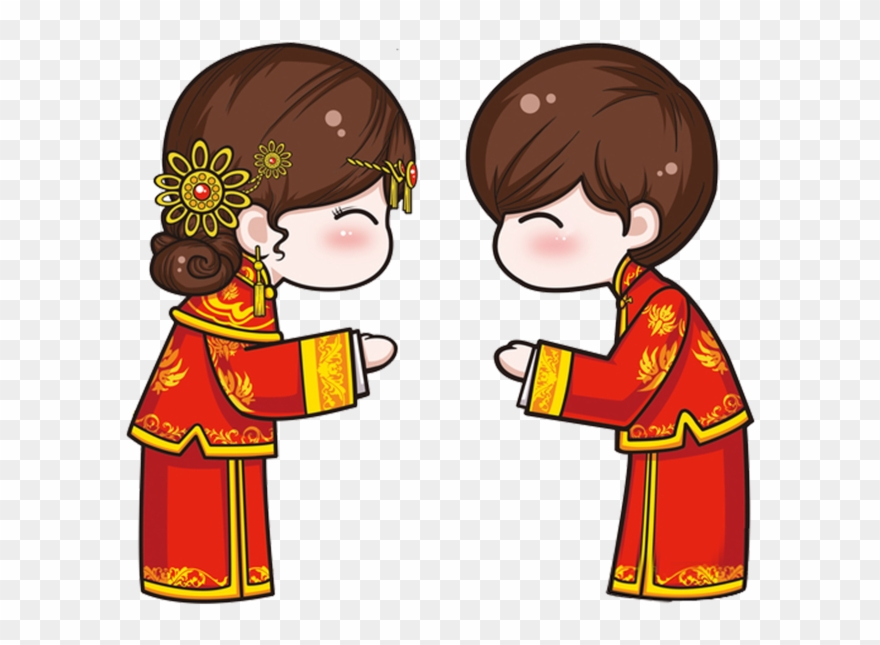 Chinese wedding clipart graphic download Chinese Wedding Cartoon Men And Women Ⓒ - Chinese Wedding Cartoon ... graphic download