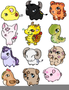 Chinese zodiac animals clipart clipart freeuse download Chinese Zodiac Animals Clipart | Free Images at Clker.com - vector ... clipart freeuse download