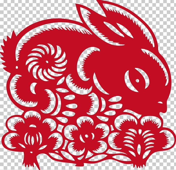 Chinese zodiac clipart paper cutting rabbit clipart transparent Papercutting Chinese Paper Cutting Rabbit PNG, Clipart, Animals, Art ... clipart transparent