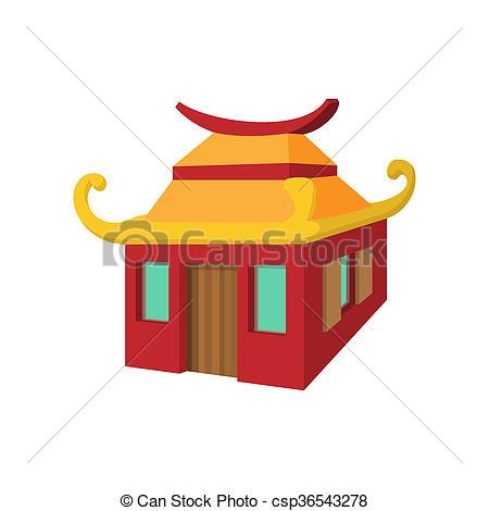 Chinesisches haus clipart graphic transparent Stock Illustrationen von Stil, chinesisches, haus, karikatur ... graphic transparent