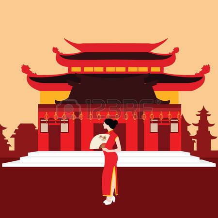 Chinesisches haus clipart svg 343 Woman Travel China Cliparts, Stock Vector And Royalty Free ... svg