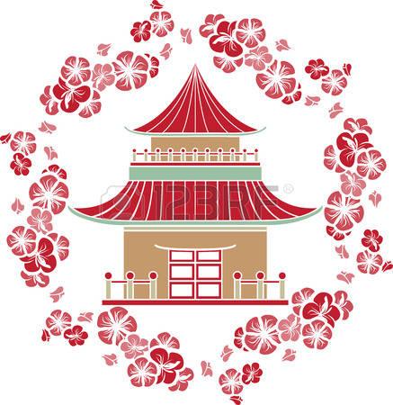 Chinesisches haus clipart picture freeuse stock Chinesisches Haus Lizenzfreie Vektorgrafiken Kaufen: 123RF picture freeuse stock