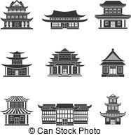 Chinesisches haus clipart vector transparent stock Chinesisches haus Lizenzfreie Vektor Clip Art. 1.483 Chinesisches ... vector transparent stock