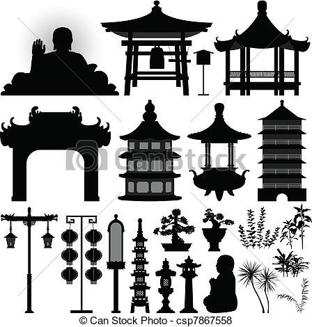 Chinesisches haus clipart vector free Vektor von Schrein, relikt, asiatisch, chinesisches, Tempel - a ... vector free