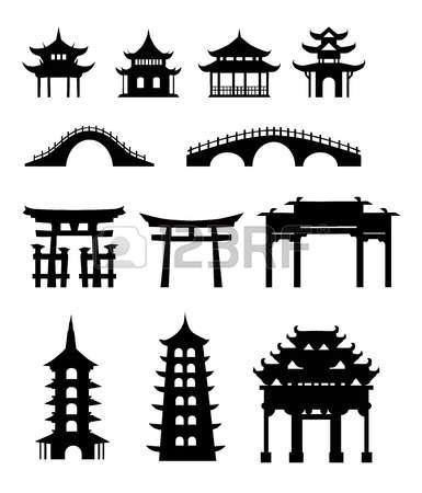 Chinesisches haus clipart jpg royalty free stock Chinesisches Haus Lizenzfreie Vektorgrafiken Kaufen: 123RF jpg royalty free stock
