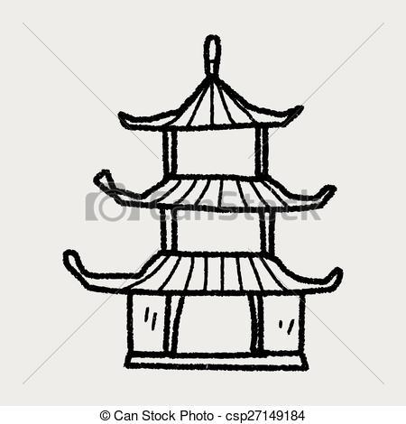 Chinesisches haus clipart svg royalty free download Vektor von haus, chinesisches, Gekritzel - chinesisches, haus ... svg royalty free download
