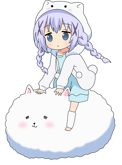 Kafuu chino clipart png library download Render Chibi Chino Kafuu by Yumi-Girl-2k4.deviantart.com on ... png library download