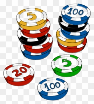 Chip casino clipart image library Free Clipart - Casino Chips Clip Art - Png Download (#12835 ... image library