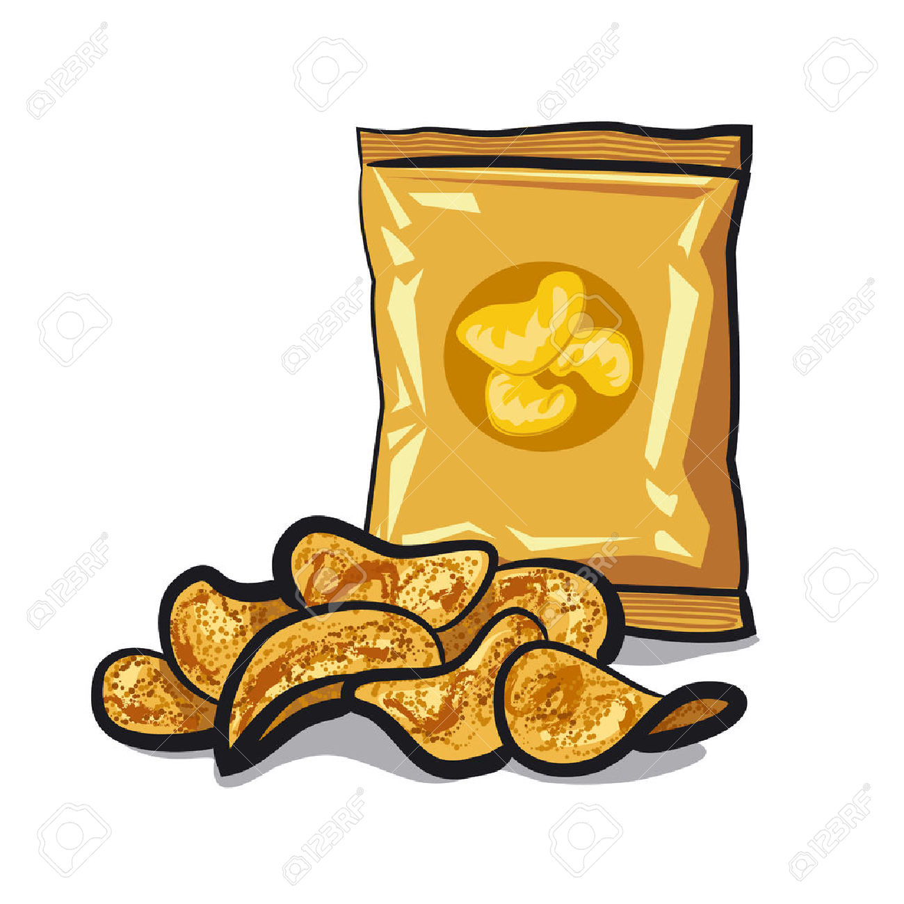 Chip clipart clip black and white library Potato Chip Clipart   Free download best Potato Chip Clipart on ... clip black and white library