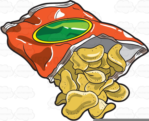 Chip clipart image royalty free stock Bag Of Potato Chip Clipart   Free Images at Clker.com - vector clip ... image royalty free stock