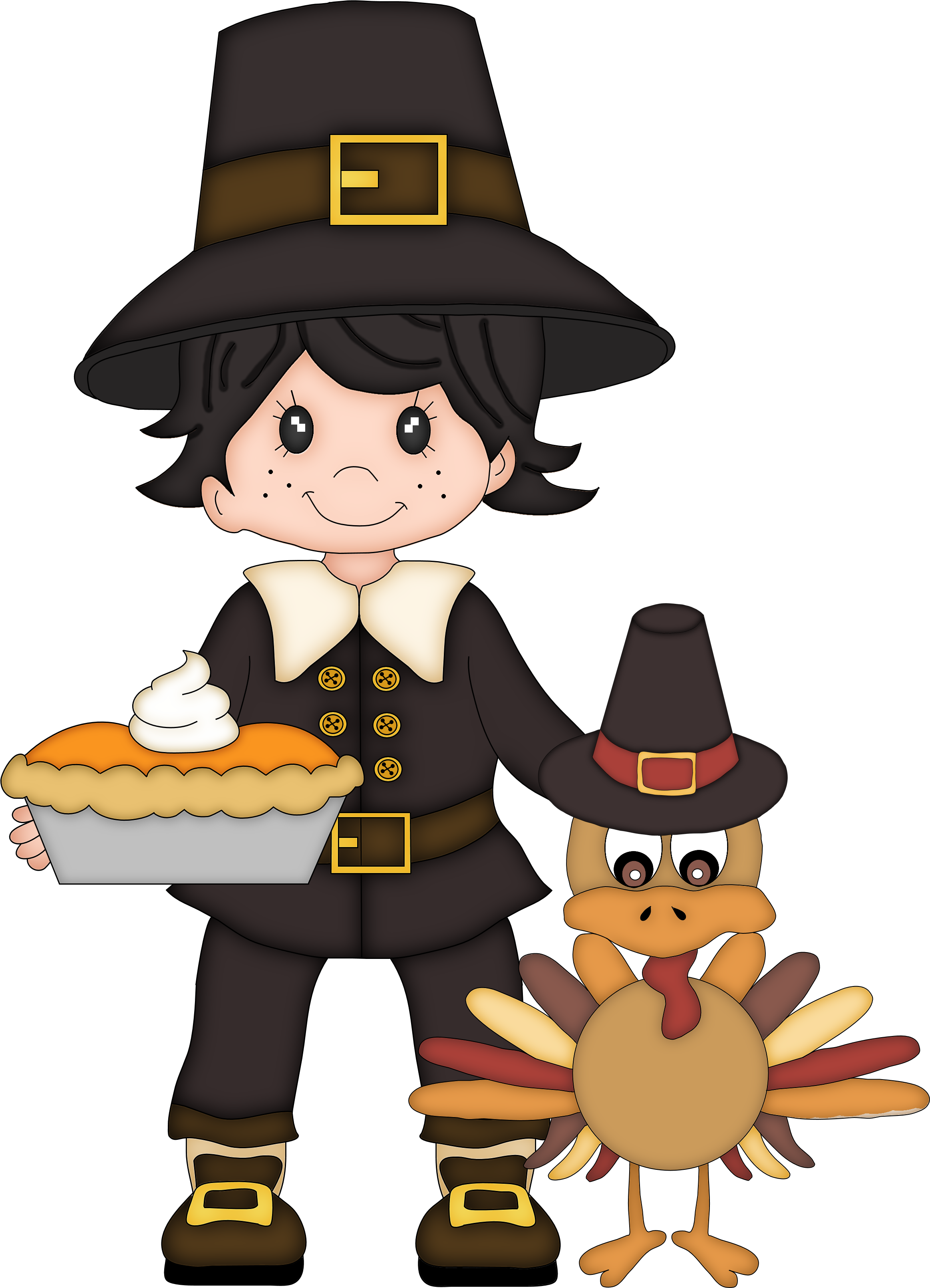 Thanksgiving cute clipart turkey with pilgrim clipart library download turkey craft | Homeschooled Kids Online clipart library download