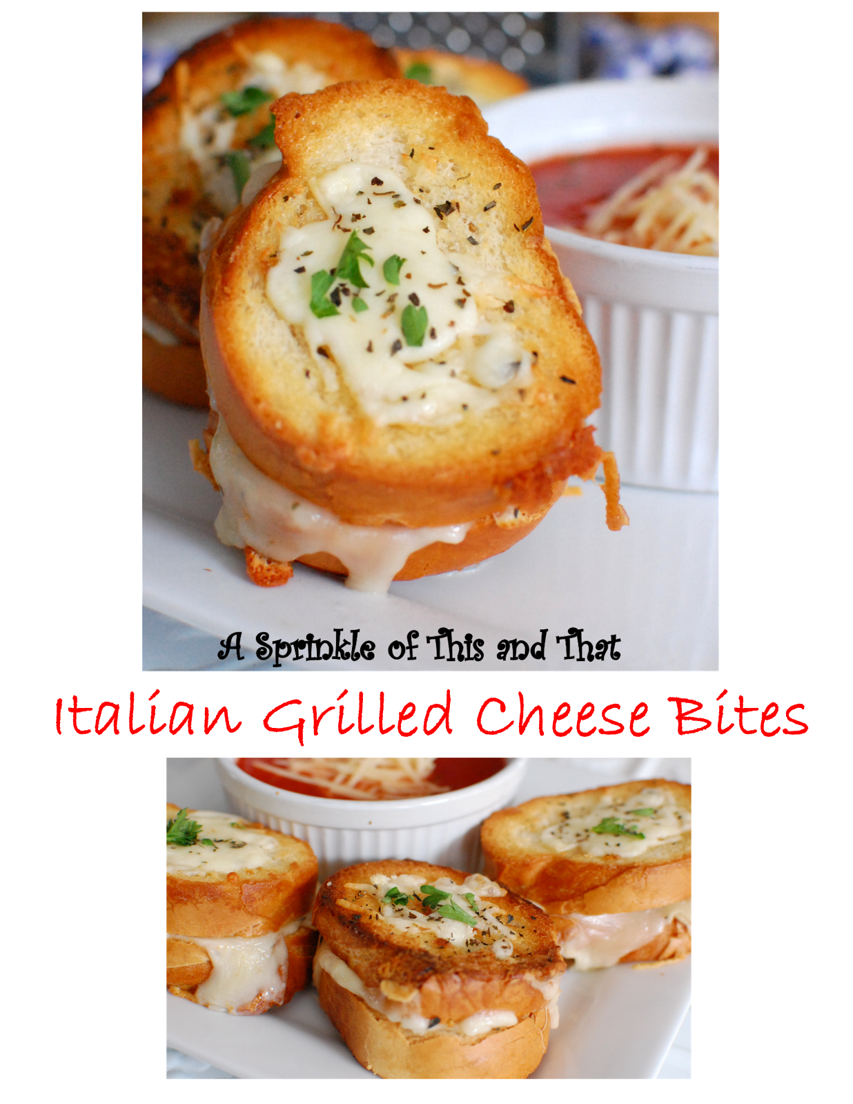 Chips and dip clipart thanksgiving banner A Sprinkle of This and That: Italian Grilled Cheese Bites banner