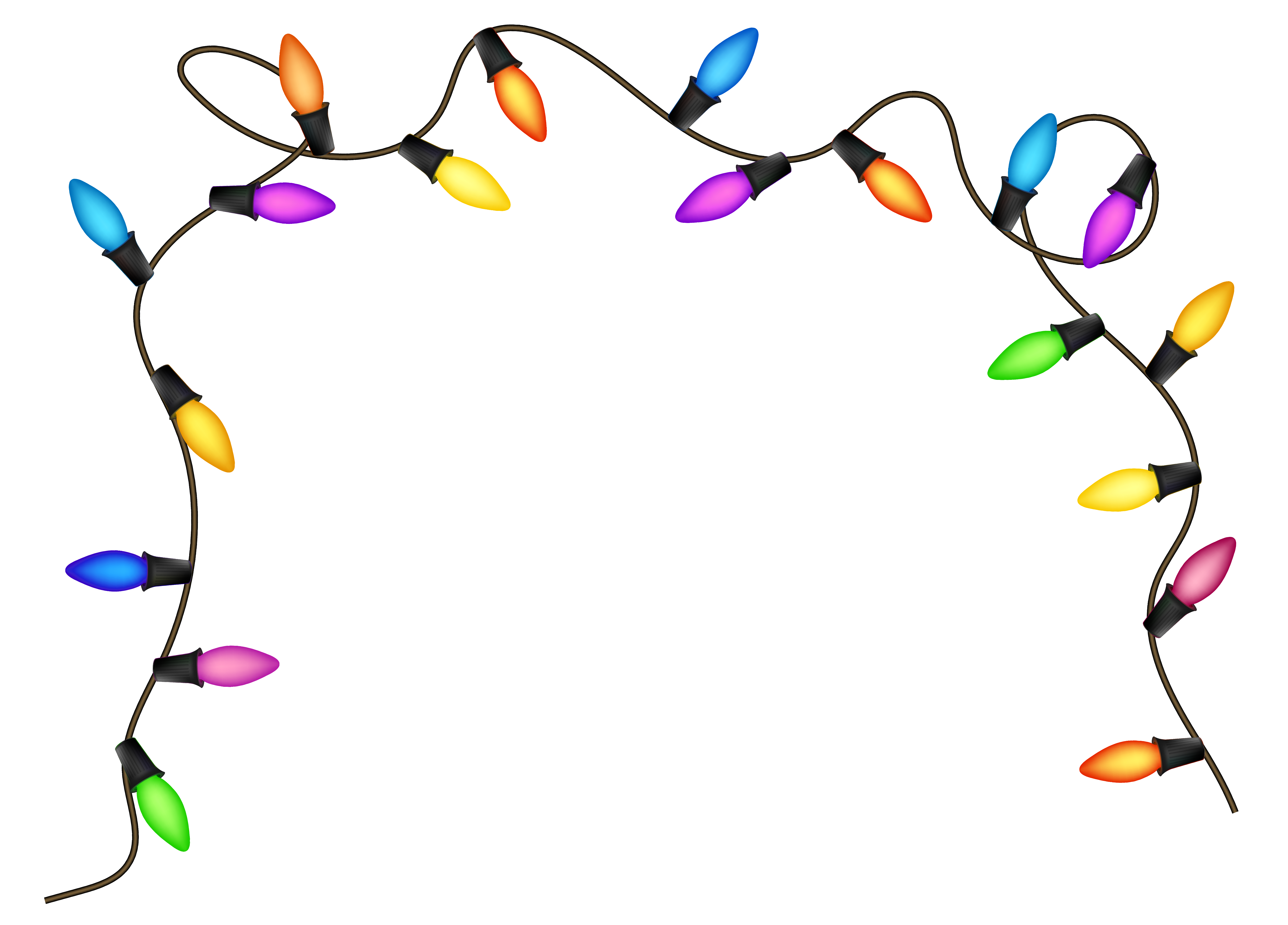 Christmas lights transparent clipart banner library stock Christmas Lights Clipart PNG Image | Gallery Yopriceville - High ... banner library stock
