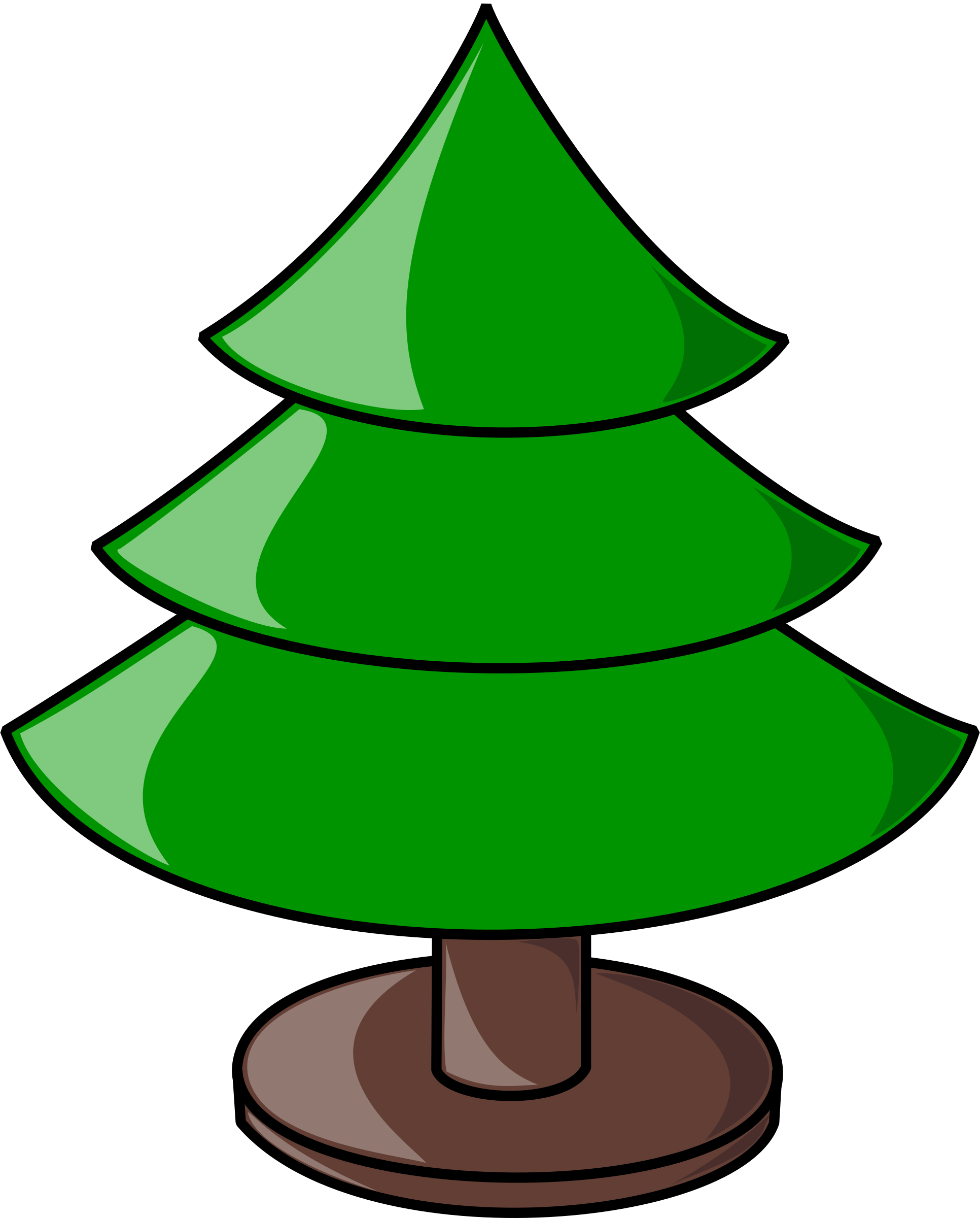 Chrismas tree clipart graphic free library Clipart - Christmas Tree (plain) graphic free library