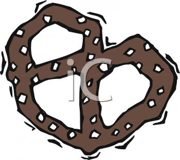 Chocholate pretxle clipart png download Clipart Picture Of A Chocolate Pretzel - foodclipart.com png download