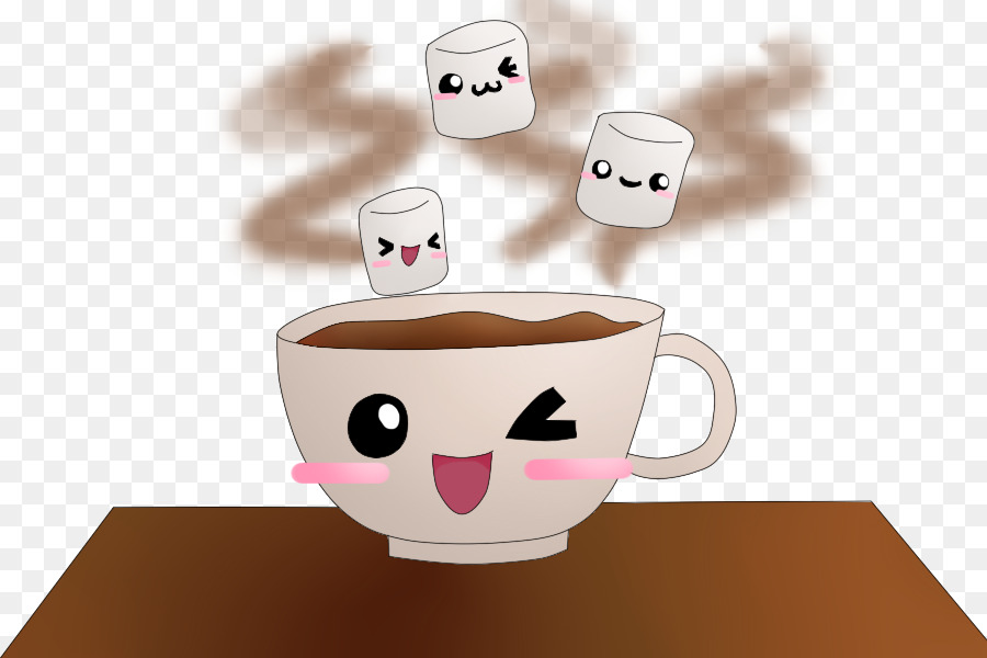 Chocolate and marshmallows clipart graphic freeuse library Cup Of Coffee clipart - Marshmallow, Chocolate, Cartoon, transparent ... graphic freeuse library
