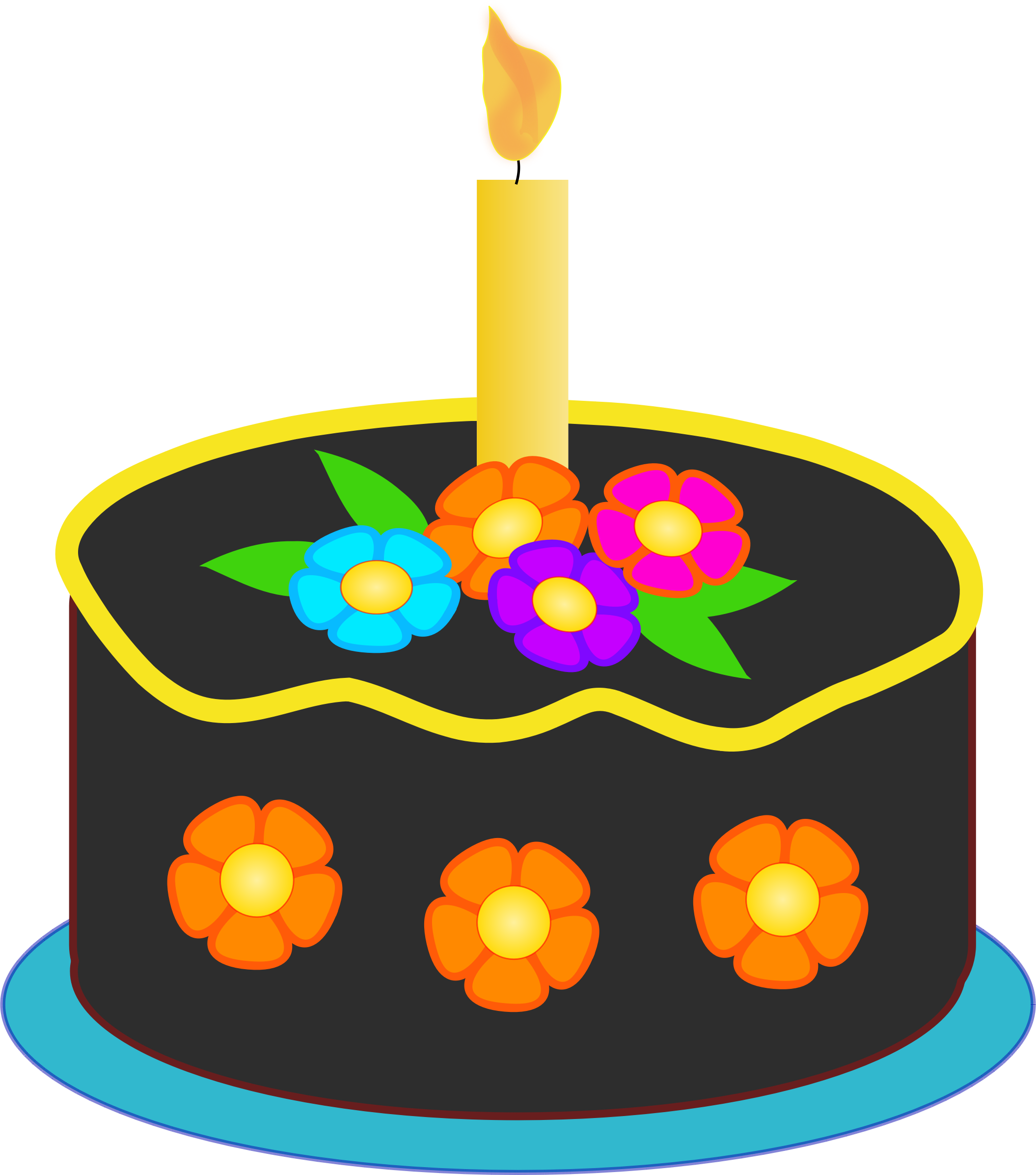 Birthday cake graphics clip art jpg Clipart - Chocolate Birthday Cake jpg