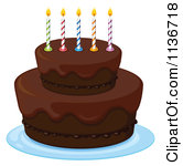 Chocolate birthday cake clipart clipart transparent download Cartoon Of A Chocolate Birthday Cake With A 9 Candle - Royalty ... clipart transparent download