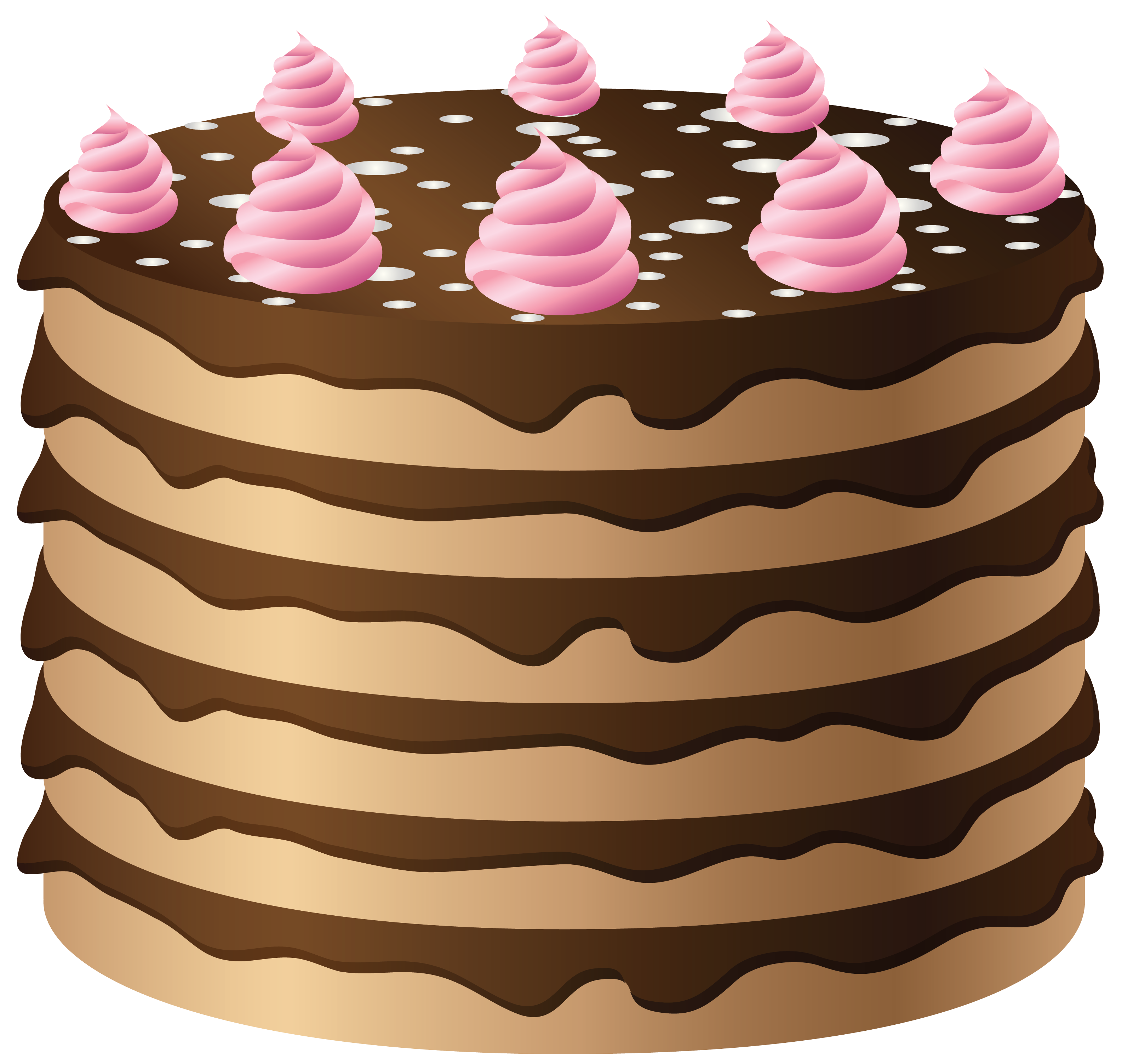 Chocolate cake clipart clip art transparent library Chocolate Cake with Pink Cream PNG Clipart | Gallery Yopriceville ... clip art transparent library