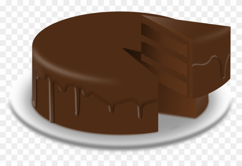 Chocolate cake clipart vector black and white Chocolate Cake Clipart Chocolate Dessert - Chocolate Cake Png ... vector black and white