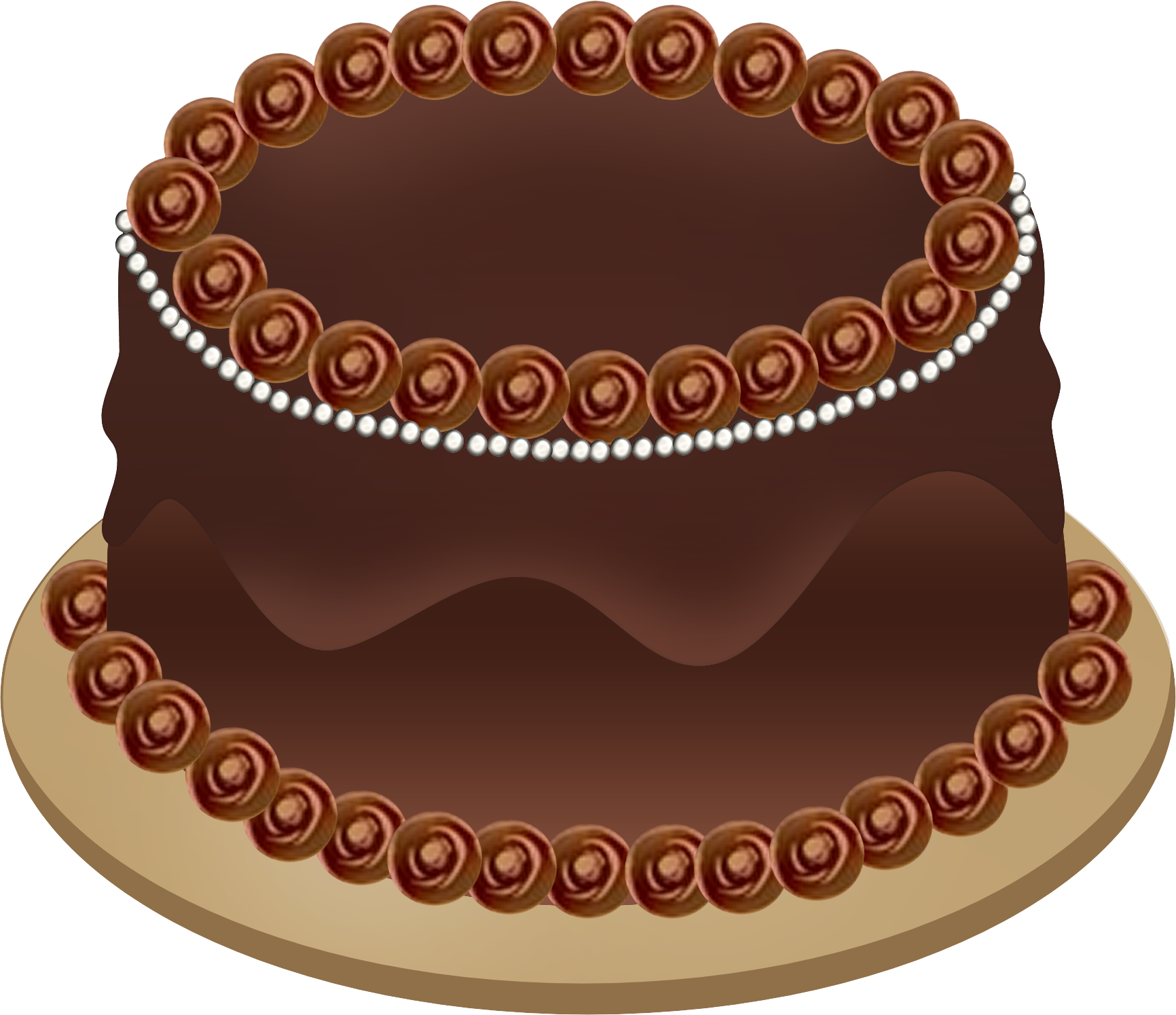 Chocolate cake clipart clip art free Download Chocolate Cake Black And White Danaspai Top Clipart PNG ... clip art free