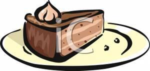 Chocolate cake slice clipart jpg black and white Slice Of Chocolate Cake - Royalty Free Clipart Picture jpg black and white