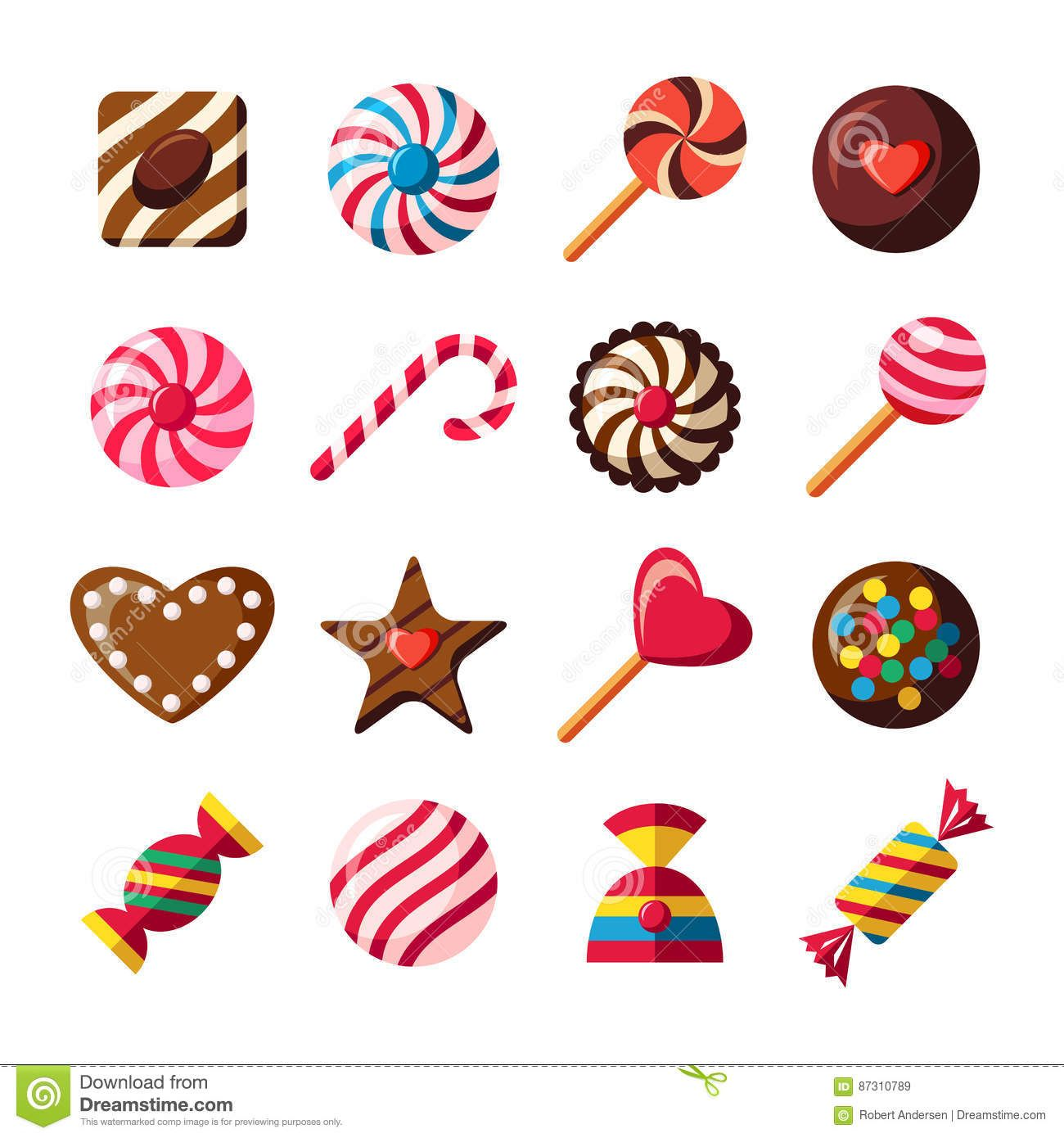 Chocolate clipart icons clip art freeuse Sweet Candy Icons, Chocolate Shapes, Vector Icons Set - Download ... clip art freeuse