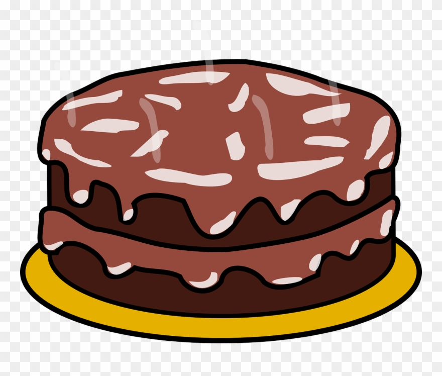 Chocolate frosting clipart picture freeuse Cake Chocolate Frosting - Birthday Cake Clip Art - Png Download ... picture freeuse
