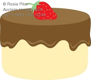 Chocolate frosting clipart clipart free download Clipart Illustration of a White Cake With Chocolate Frosting clipart free download