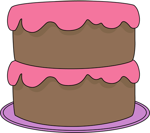 Chocolate frosting clipart transparent library Chocolate Cake with Pink Frosting Clip Art - Chocolate Cake with ... transparent library