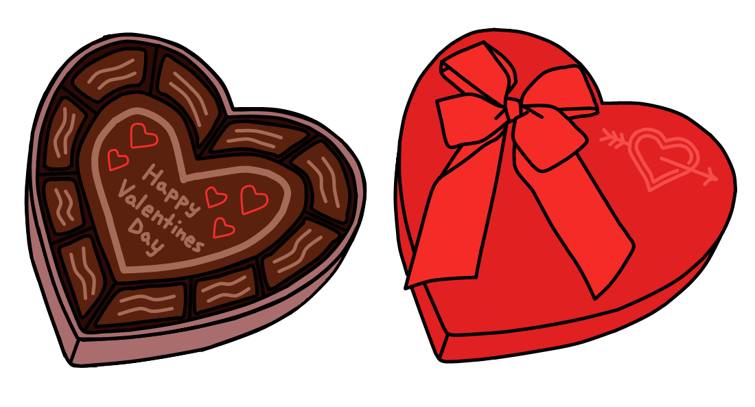 Chocolate heart clipart clipart black and white Walfas Custom Props - Valentine's Day Chocolate by grayfox5000 on ... clipart black and white