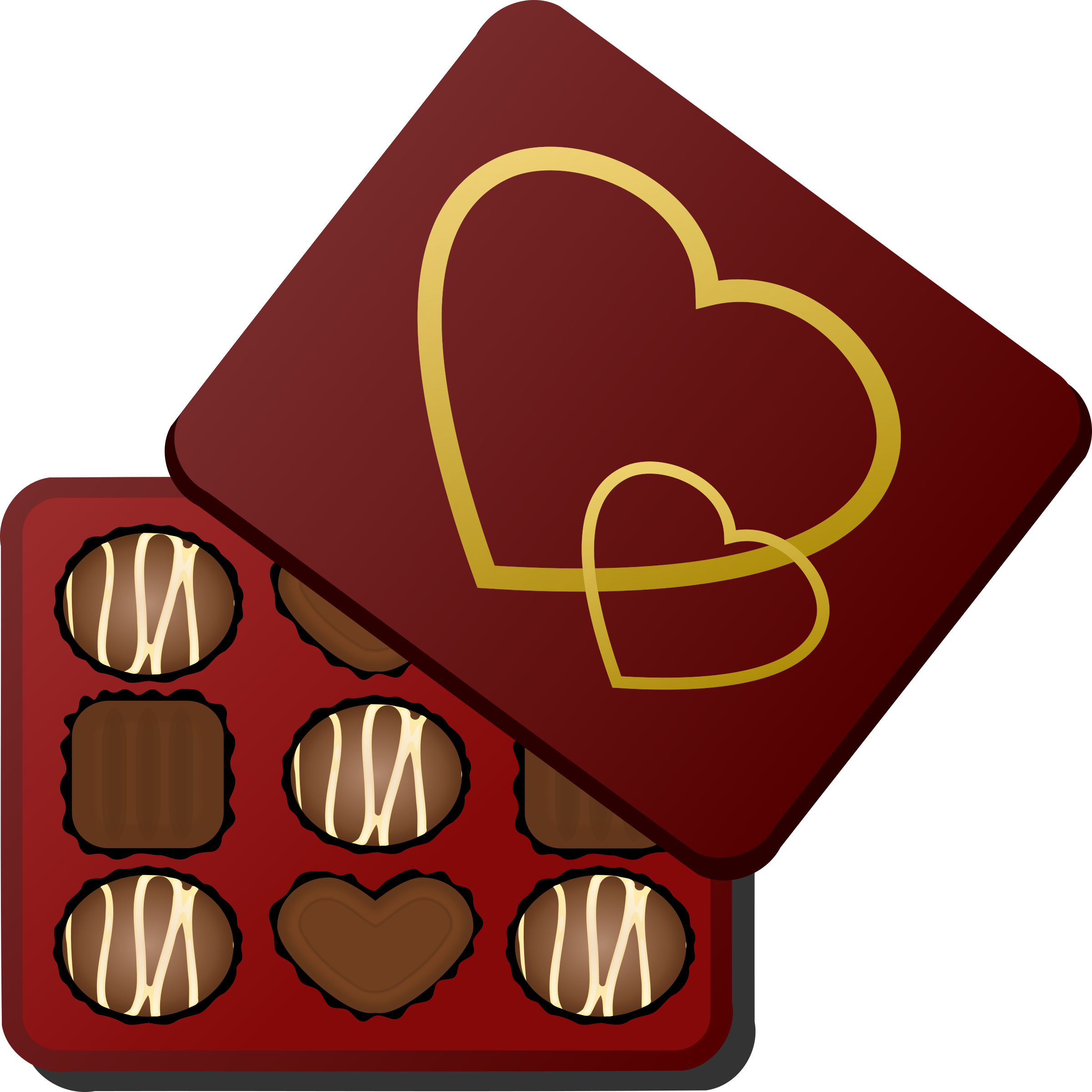 Chocolate heart clipart vector transparent download Box of Chocolates Icons PNG - Free PNG and Icons Downloads vector transparent download