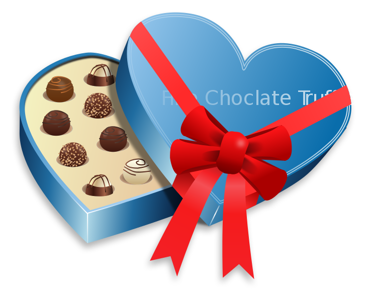 Chocolate heart clipart clip free stock File:Valentine's Day - Chocolate Box.svg - Wikimedia Commons clip free stock