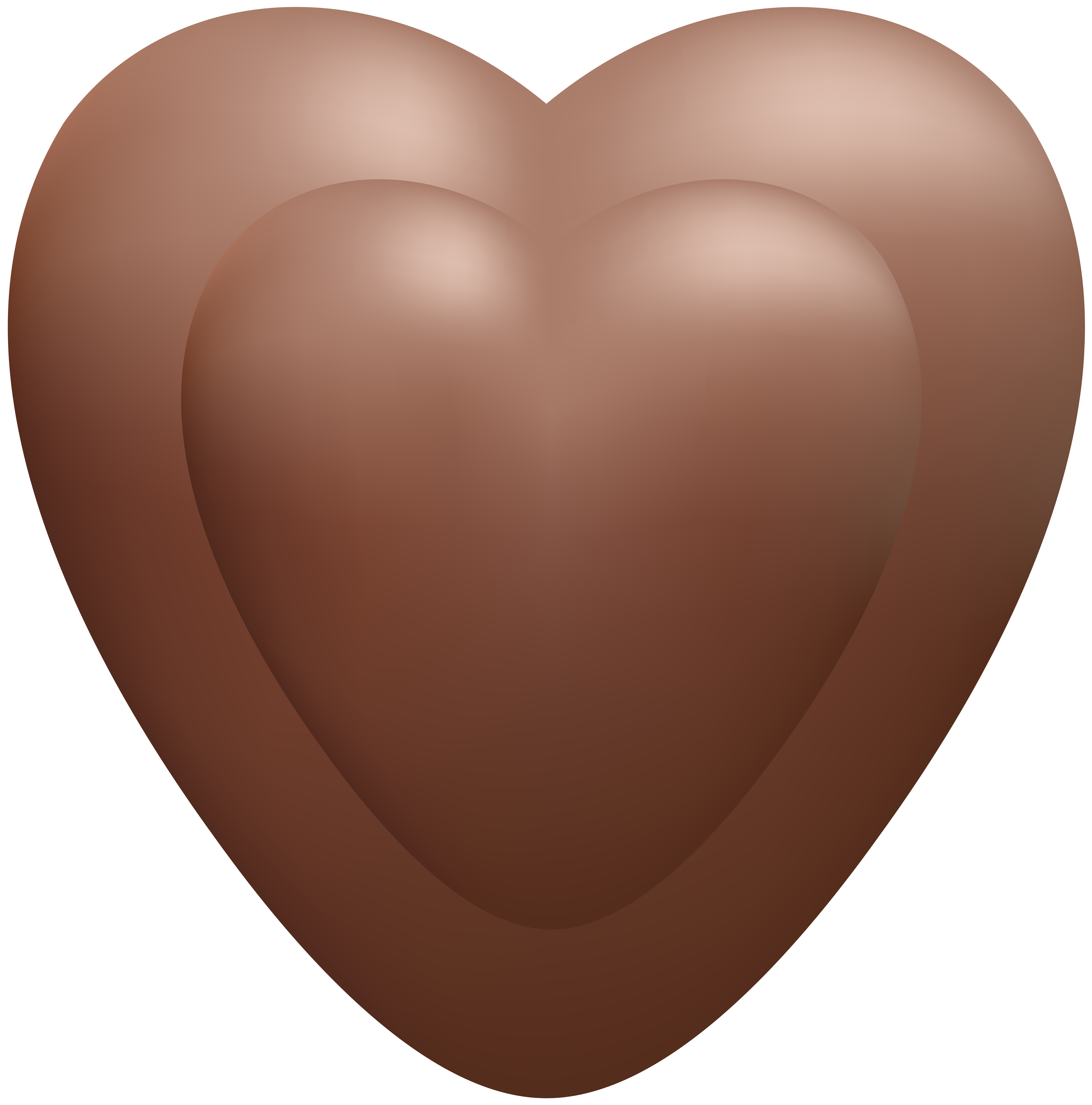 Chocolate heart clipart jpg black and white stock Chocolate Heart Transparent PNG Clip Art Image | Gallery ... jpg black and white stock