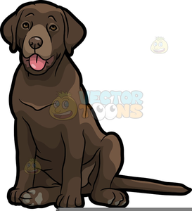 Chocolate lab clipart free clip royalty free Chocolate Labrador Clipart | Free Images at Clker.com - vector clip ... clip royalty free