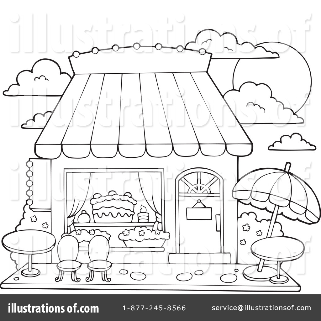 Chocolate store clipart black and white vector freeuse Candy Shop Clipart #1100788 - Illustration by visekart vector freeuse