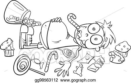 Chocolate store clipart black and white image black and white download Vector Clipart - Like a kid in a candy store cartoon. Vector ... image black and white download