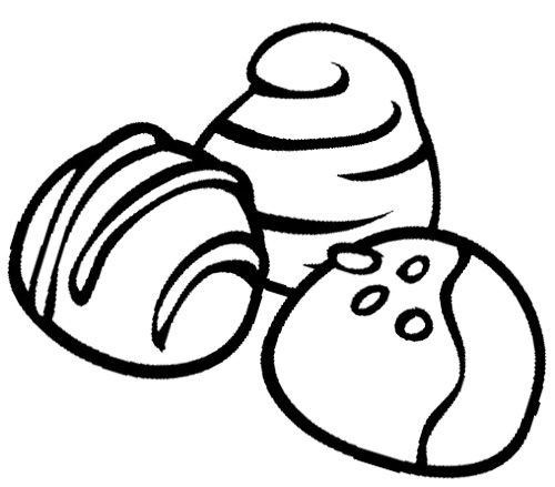 Chocolate store clipart black and white free Chocolate Truffles Cookie Coloring Page | Cookie | Chocolate ... free