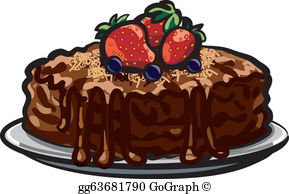 Chocolate tart clipart clip freeuse library Chocolate Tart Clip Art - Royalty Free - GoGraph clip freeuse library