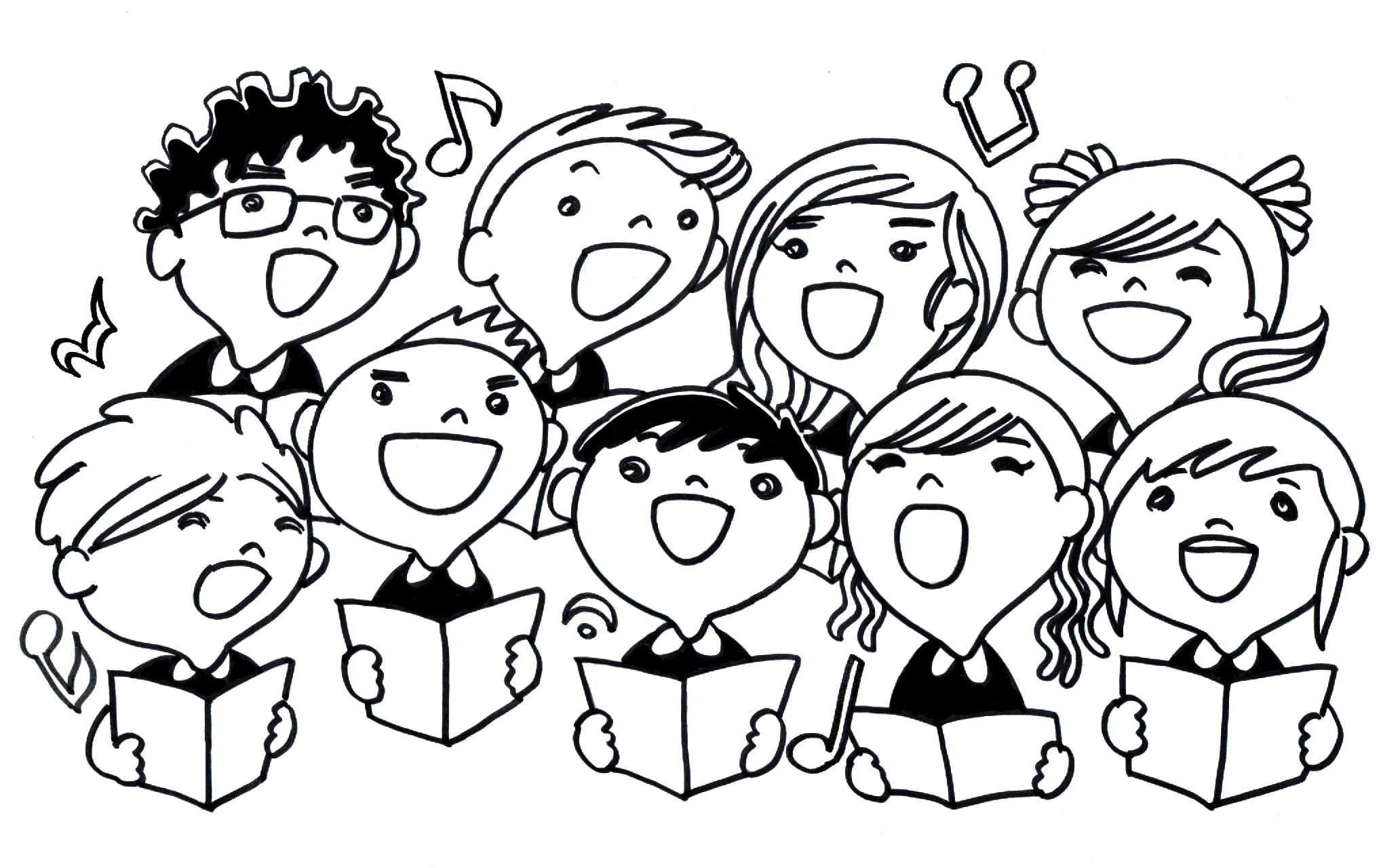 Clipart of a choir svg royalty free Free Choir Singers Cliparts, Download Free Clip Art, Free Clip Art ... svg royalty free