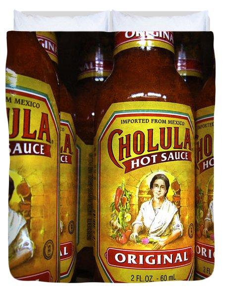 Cholula hot sauce clipart jpg library Hot Sauce Duvet Covers   Fine Art America jpg library