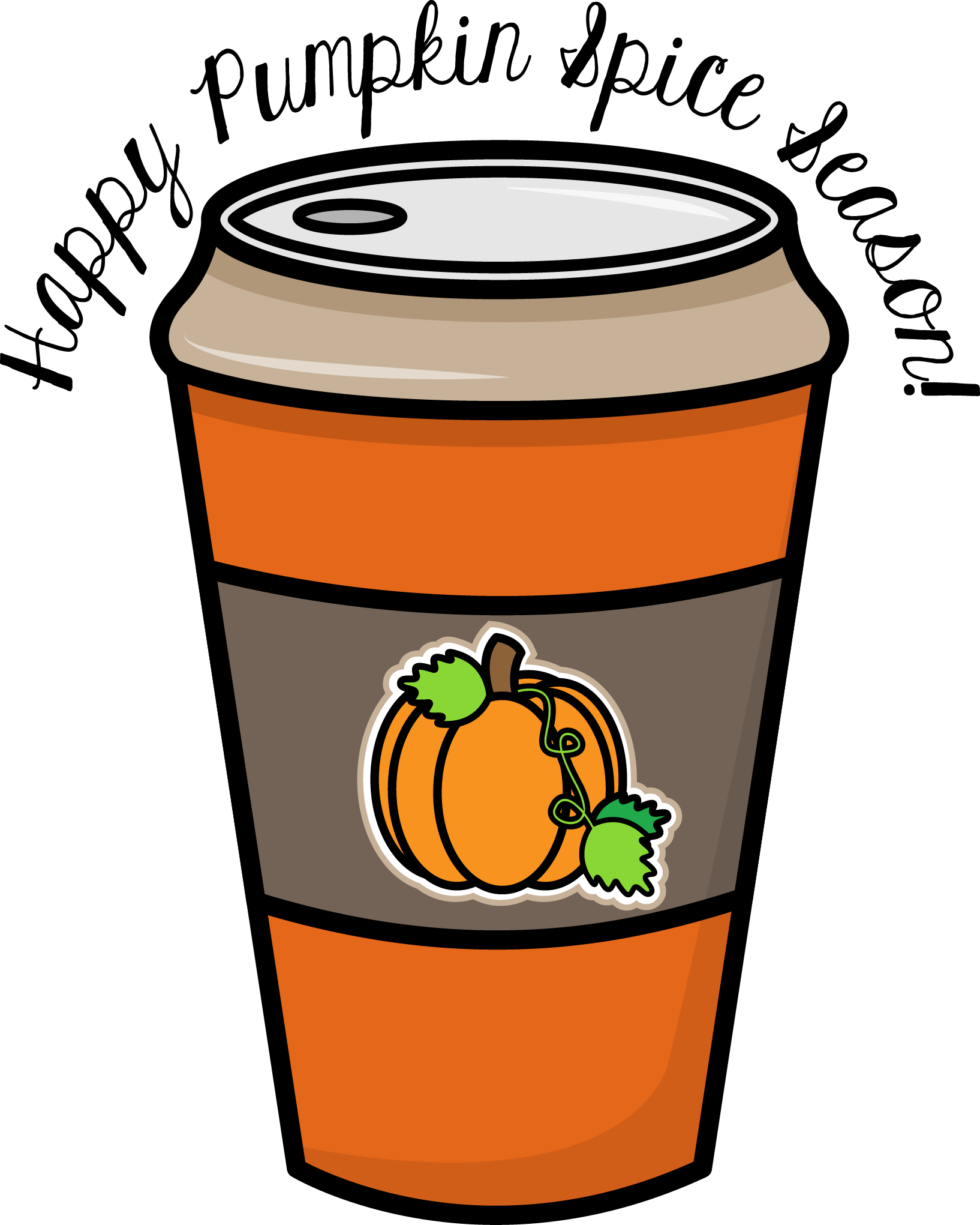Free pumpkin face clipart png free download Grant Avenue Design - Freebie Friday – Pumpkin Spice Clipart png free download