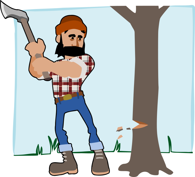 Tree cutting clipart freeuse stock 28+ Collection of Chopping Trees Clipart | High quality, free ... freeuse stock