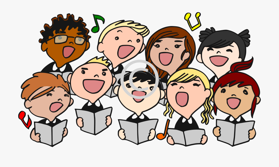 Choral reading clipart svg stock Choir Men\'s Chorus Clip Art 25 2400*1338 Transprent - Sing In A ... svg stock