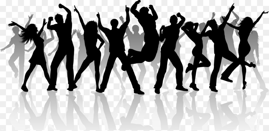 Choreography clipart jpg freeuse Party Silhouette png download - 2400*1166 - Free Transparent Dance ... jpg freeuse