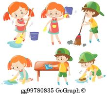 Chores for kids clipart clipart transparent library Chores Clip Art - Royalty Free - GoGraph clipart transparent library