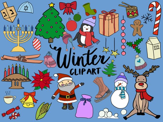 Winter holiday clipart trees