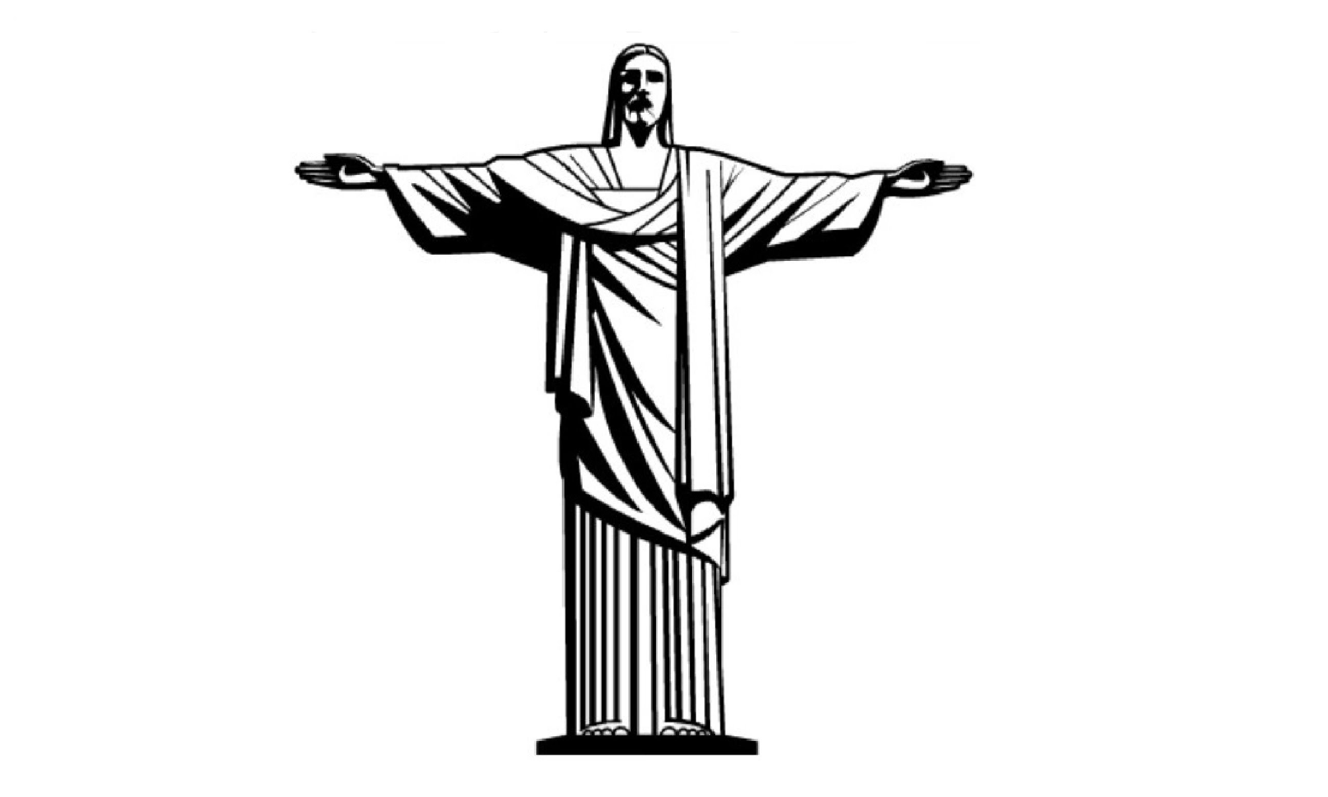 Christ brazil statue black and white clipart banner transparent download Rio De Janeiro Drawing | Free download best Rio De Janeiro Drawing ... banner transparent download